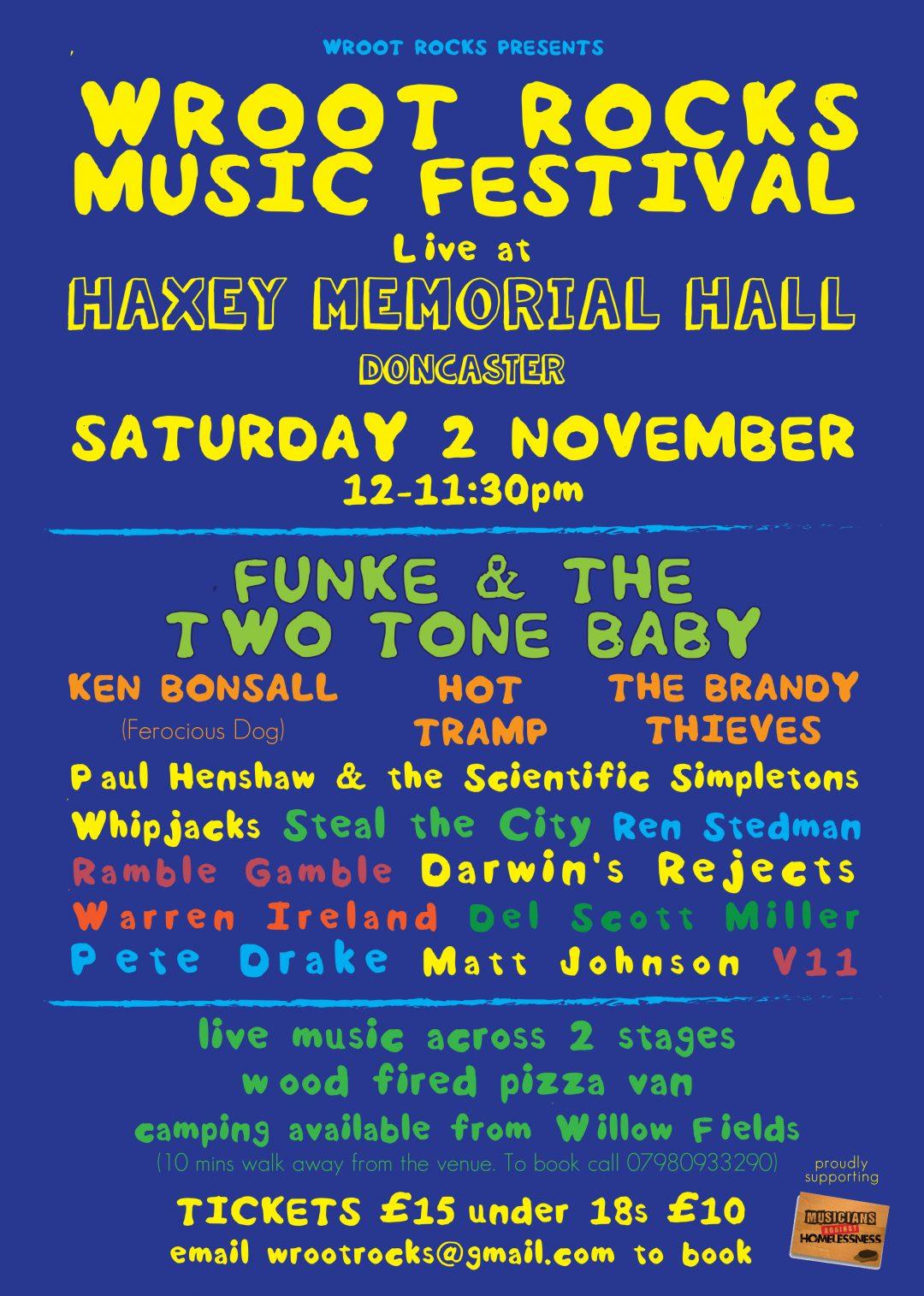 Wroot Rocks – festival poster